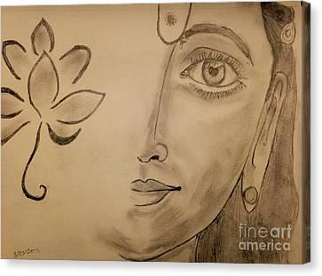 Laxmi Mata Canvas Print by Navroz  Raje