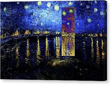 Layered 15 Van Gogh Canvas Print by David Bridburg