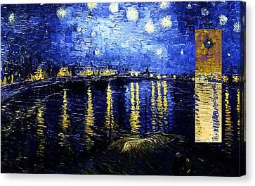 Layered 16 Van Gogh Canvas Print by David Bridburg