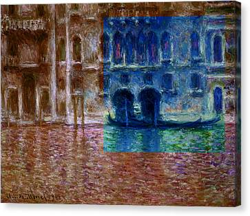 Layered 18 Monet Canvas Print by David Bridburg