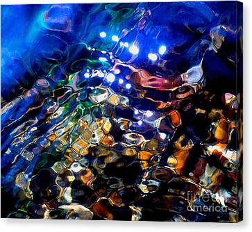 Layers Of Color And Light Canvas Print by Terril Heilman