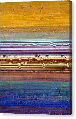 Layers With Orange And Blue Canvas Print by Michelle Calkins