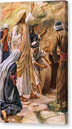 Lazarus, Come Forth Canvas Print by Harold Copping