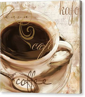 Le Cafe Light Canvas Print by Mindy Sommers