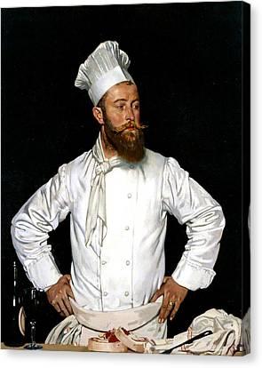 Le Chef De L'hotel Chatham Canvas Print by William Orpen