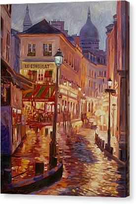 Le Consulate Montmartre Canvas Print by David Lloyd Glover