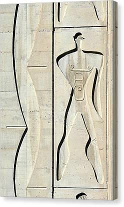 Le Corbusier Design Canvas Print by Chris Hellier