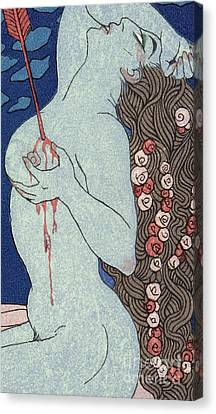 Le Deramantnier Canvas Print by Georges Barbier