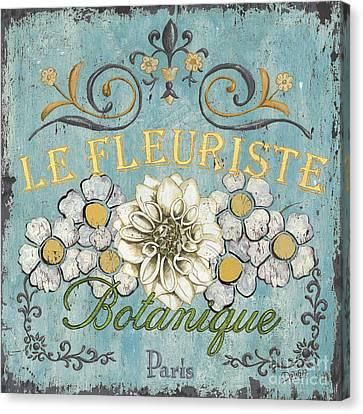 Le Fleuriste De Botanique Canvas Print by Debbie DeWitt