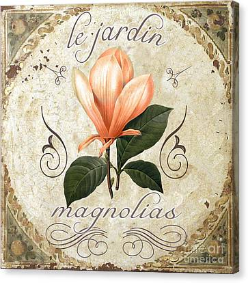 Le Jardin Magnolias Canvas Print by Mindy Sommers
