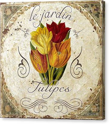 Le Jardin Tulipes Canvas Print by Mindy Sommers