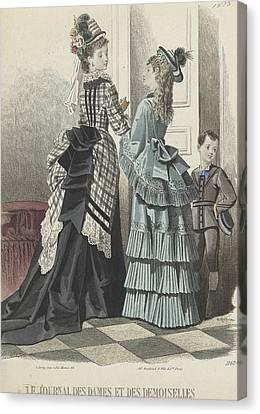 Le Journal Des Dames Et Des Demoiselles Canvas Print by A Bodin