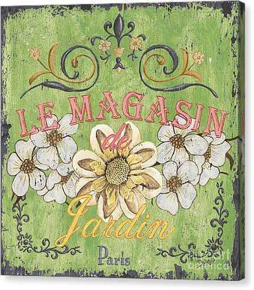 Le Magasin De Jardin Canvas Print by Debbie DeWitt
