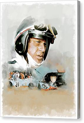 Le Mans IIi Steve Mcqueen Canvas Print by Iconic Images Art Gallery David Pucciarelli