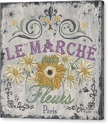 Le Marche Aux Fleurs 1 Canvas Print by Debbie DeWitt