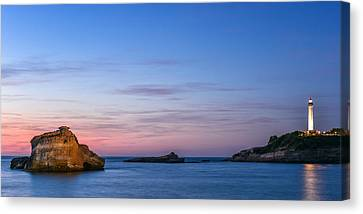 Canvas Print featuring the photograph Le Phare De Biarritz by Thierry Bouriat