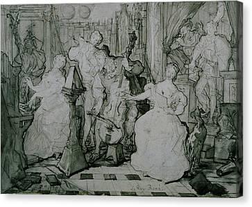 Le Roy Rene Canvas Print by Eugene Delacroix