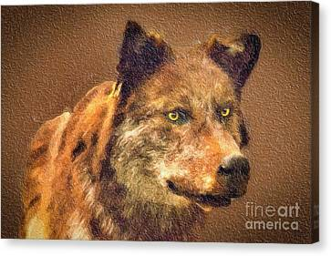 Leader Of The Pack Canvas Print by David Millenheft