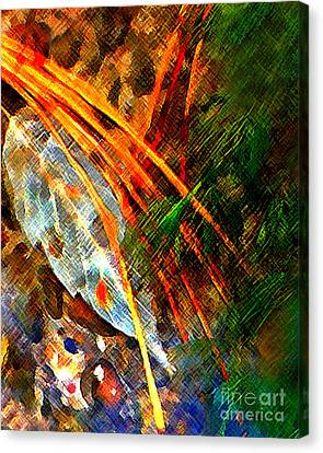 Leaf On The Bottom Canvas Print by Terril Heilman