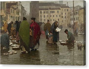 Lean Day Canvas Print by Bartolomeo Bezzi