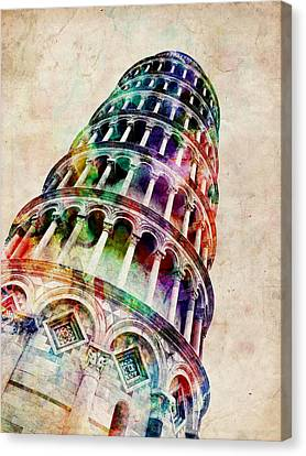 Leaning Tower Of Pisa Canvas Print by Michael Tompsett