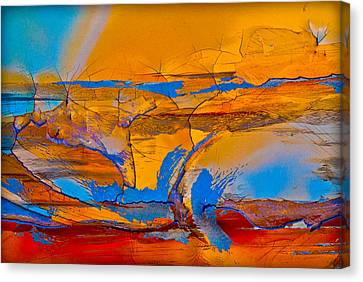Leap Into The Sky Canvas Print by David Clanton