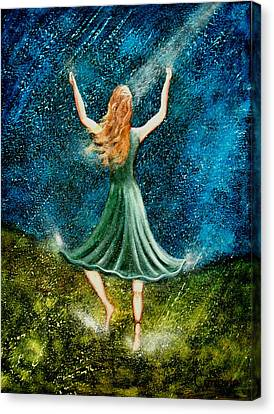 Learning To Dance In The Rain II Canvas Print by Charlotte Smith
