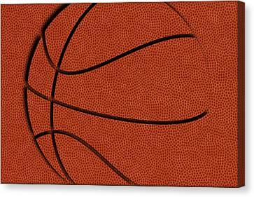 Leather Basketball Art Canvas Print by Joe Hamilton