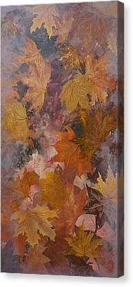 Leaves Canvas Print by Emily Magone