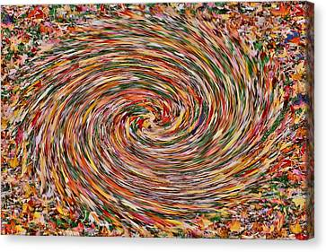 Leaves Playing Roulette Canvas Print by Nick David