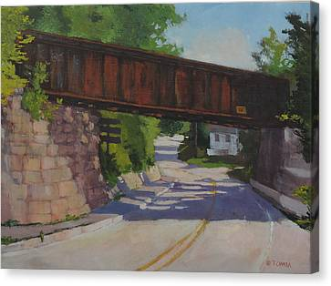 Leaving Hallowell Canvas Print by Bill Tomsa