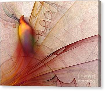 Leaving Marks Abstract Art Canvas Print by Karin Kuhlmann