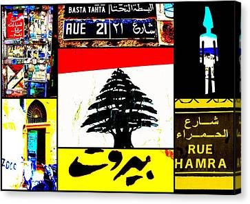 Lebanon Famous Icons Canvas Print by Funkpix Photo Hunter