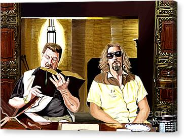 Lebowski  Mortuary Canvas Print by Johnee Fullerton