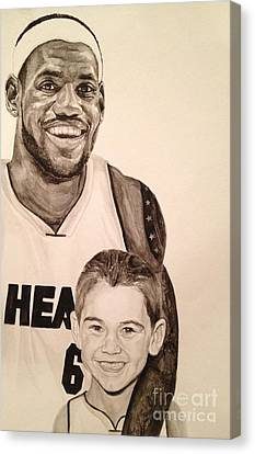 Lebron And Carter Canvas Print by Tamir Barkan