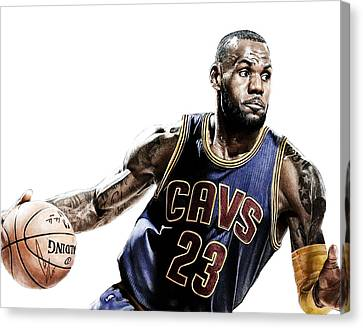 Lebron Canvas Print by Bobby Shaw
