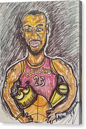 Lebron James Canvas Print by Geraldine Myszenski
