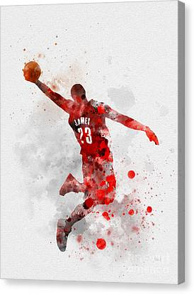 Lebron James Canvas Print by Rebecca Jenkins