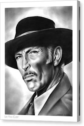 Lee Van Cleef Canvas Print by Greg Joens