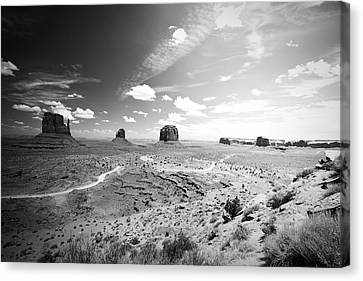 Left And Right Mittens And Merrick Butte Canvas Print by Ryan Kelly