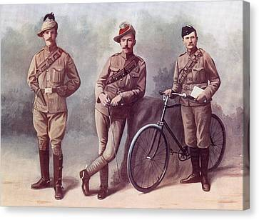 Left. Trooper Of The South African Canvas Print by Vintage Design Pics