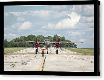 Left Turn - B-25 Canvas Print by Jack R Perry