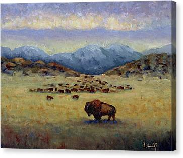 Legend Canvas Print by Linda Hiller