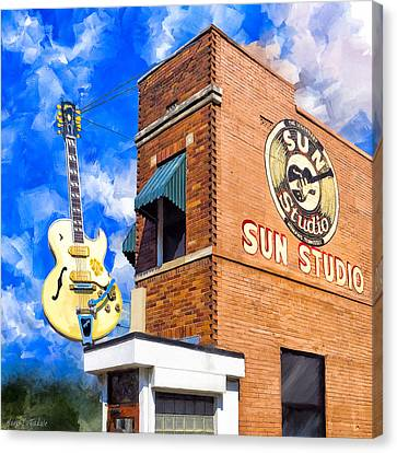 Legendary Home Of Rock N Roll Canvas Print by Mark Tisdale