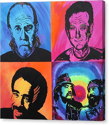 Legends Of Laughter Canvas Print by Bill Manson