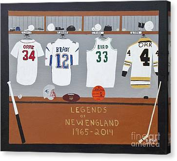 Legends Of New England Canvas Print by Dennis ONeil