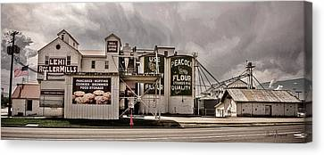 Lehi Roller Mills Vintage Canvas Print by David Simpson