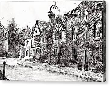 Leigh Arms Prestbury Canvas Print by Vincent Alexander Booth