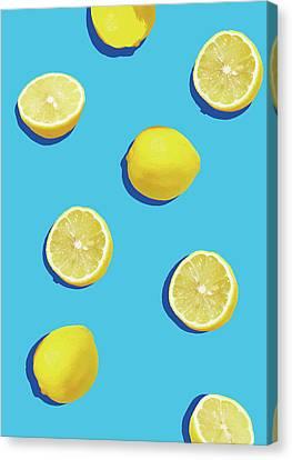 Lemon Pattern Canvas Print by Rafael Farias