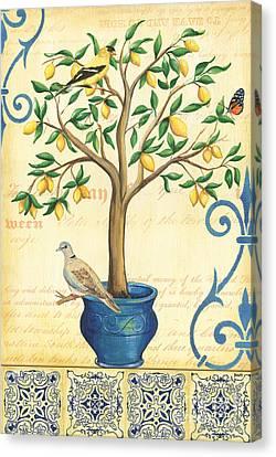 Lemon Tree Of Life Canvas Print by Debbie DeWitt